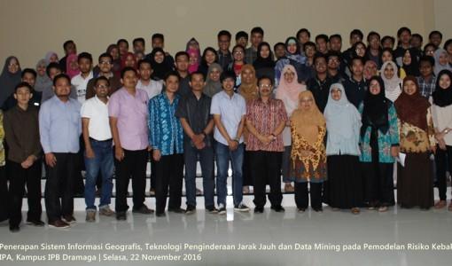 Kuliah Umum Penerapan GIS, Remote Sensing dan Data Mining di Forest Kebakaran Risk Modelling