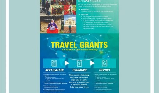 Travel Grant for Student's International Mobility – International Collaboration Office IPB