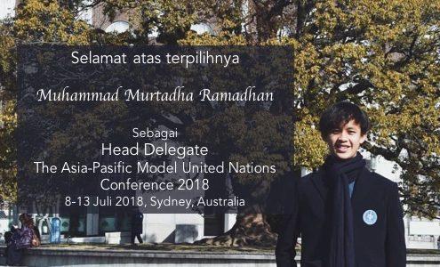 Mahasiswa Ilkom IPB Terpilih Menjadi Head Delegate Djarum Foundation Delegation di AMUNC 2018
